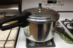 Combine pork, veggies, salsa verde and water or broth in a dutch oven. Boil then simmer for 1 hour. In a hurry? Use a pressure cooker.